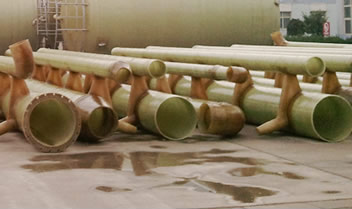 Several FRP chimney pipes for desulfidation