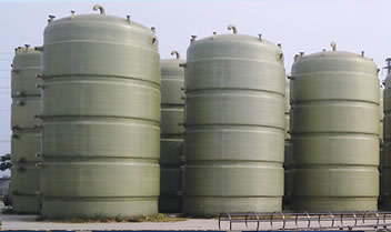 Some FRP double wall tanks for fermentation