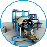 A continuous filament winding machine allows for convenient and quick operation