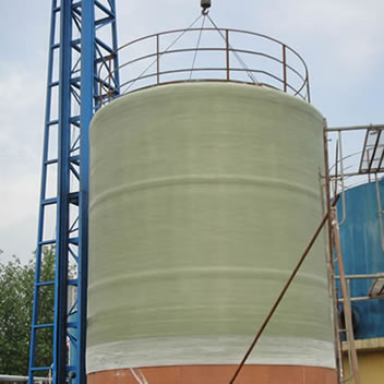 A filament winded vertical FRP tanks